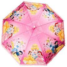Зонт-трость детский со свистком гелевый «Мультяшные герои» (Принцессы Disney), фото 2
