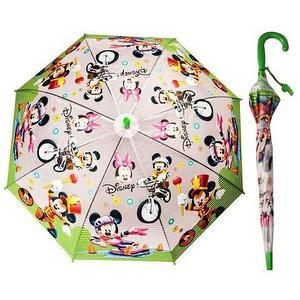 Зонт-трость детский со свистком гелевый «Мультяшные герои» (Барби с синей ручкой)