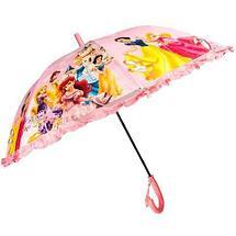 Зонт-трость детский со свистком гелевый «Мультяшные герои» (Барби с синей ручкой), фото 2