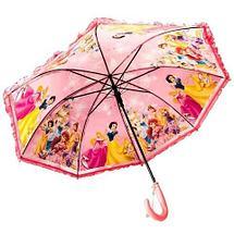 Зонт-трость детский со свистком гелевый «Мультяшные герои» (Барби с синей ручкой), фото 3