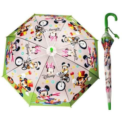 Зонт-трость детский со свистком гелевый «Мультяшные герои» (Вспыш с красной ручкой)