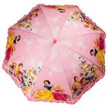 Зонт-трость детский со свистком гелевый «Мультяшные герои» (Вспыш с красной ручкой), фото 3