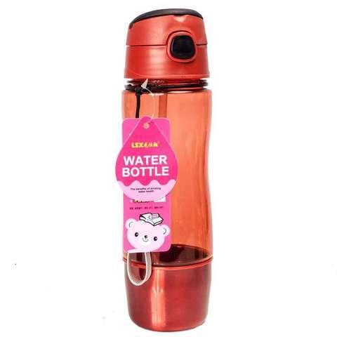 Бутылка для воды с трубочкой и съёмным стаканчиком WATER BOTTLE (Янтарный)