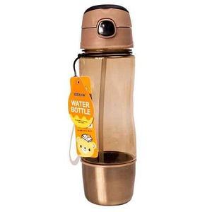 Бутылка для воды с трубочкой и съёмным стаканчиком WATER BOTTLE (Кремовый)