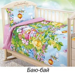 Комплект детского постельного белья от Текс-Дизайн (Аист (голубой))