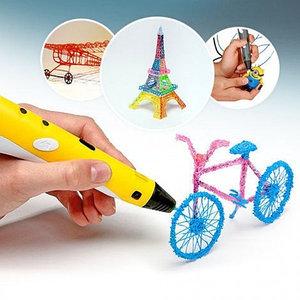 3D ручка с OLED-дисплеем для рисования в воздухе 3D PEN-2 RP-100B (Желтый)