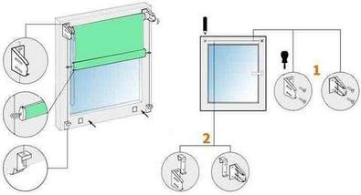 Шторы рулонные для декорации окна NURADIL SAUDA (40х180 см / Бежевый), фото 3