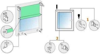 Шторы рулонные для декорации окна NURADIL SAUDA (60х180 см / Бежевый), фото 3
