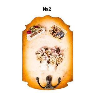 Ключница настенная в виде картины с резным узором (№2)