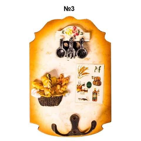 Ключница настенная в виде картины с резным узором (№3)