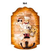 Ключница настенная в виде картины с резным узором (№3), фото 3