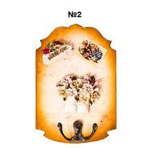 Ключница настенная в виде картины с резным узором (№4), фото 2