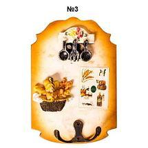 Ключница настенная в виде картины с резным узором (№4), фото 3