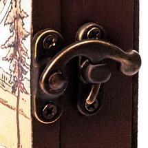 Ключница настенная в виде деревянного ящика с росписью (Kola-Champacne), фото 3