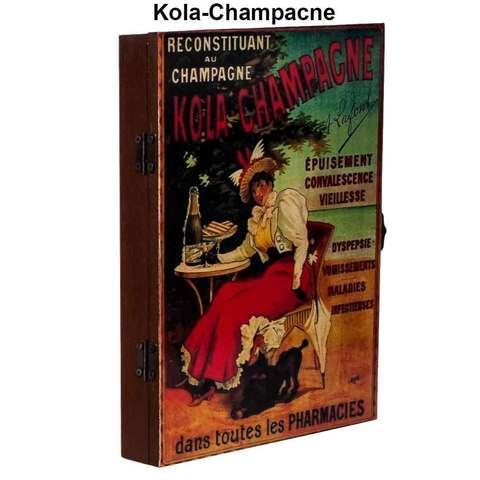 Ключница настенная в виде деревянного ящика с росписью (Kola-Champacne)