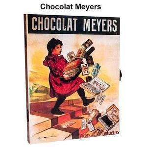 Ключница настенная в виде деревянного ящика с росписью (Chocolat Meyers)