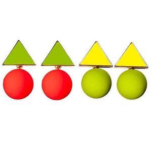 Серьги «Nuance» (Оранжевый с зелёным)