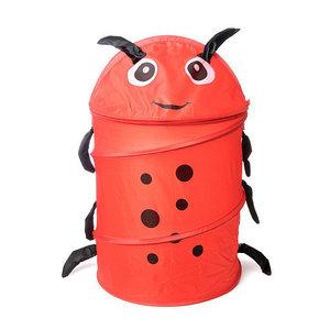 Корзина для хранения игрушек [35х35 см] (Красная гусеница)