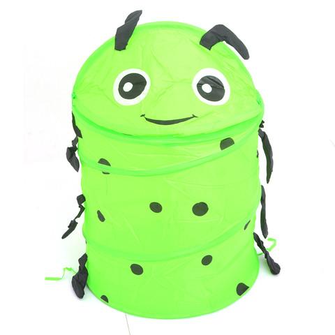 Корзина для хранения игрушек [35х35 см] (Зелёная гусеница)