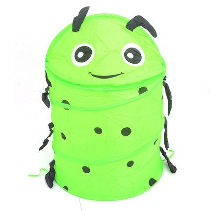 Корзина для хранения игрушек [35х35 см] (Зелёная гусеница), фото 2