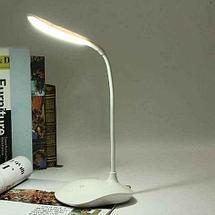 Настольная лампа в стиле минимализма на подставке с гибкой ножкой [3 режима яркости] (Круглая), фото 2