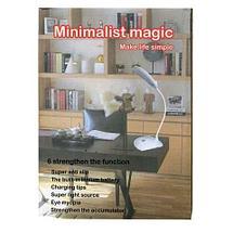 Настольная лампа в стиле минимализма на подставке с гибкой ножкой [3 режима яркости] (Круглая), фото 3