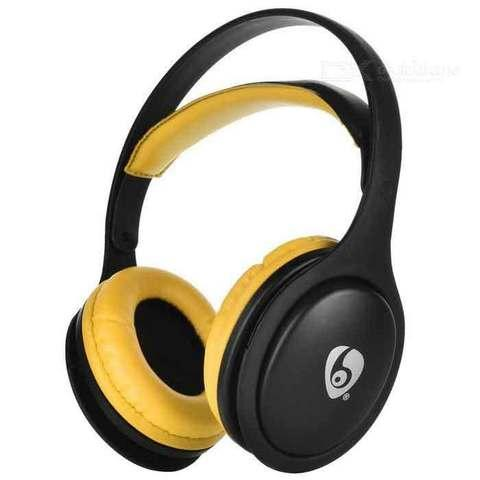 Bluetooth-наушники беспроводные Wireless MX555 (Серый с жёлтым)