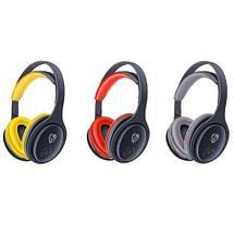 Bluetooth-наушники беспроводные Wireless MX555 (Серый с жёлтым), фото 3