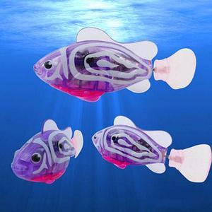 """Интерактивная игрушка """"Рыбка-робот"""" светящаяся ROBOFISH (Фиолетовый)"""