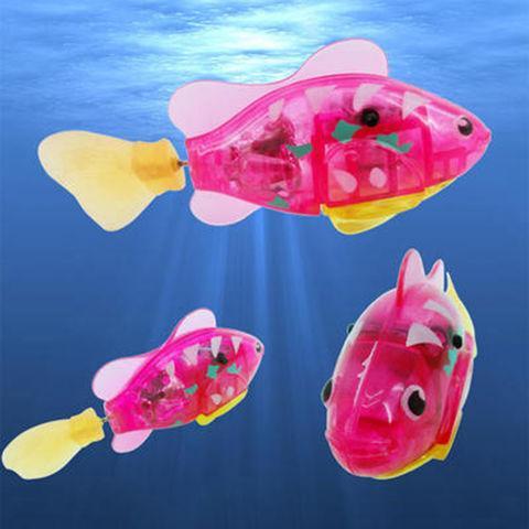 """Интерактивная игрушка """"Рыбка-робот"""" светящаяся ROBOFISH [2 шт.] (Розовый)"""