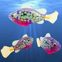 """Интерактивная игрушка """"Рыбка-робот"""" светящаяся ROBOFISH [2 шт.] (Розовый), фото 2"""