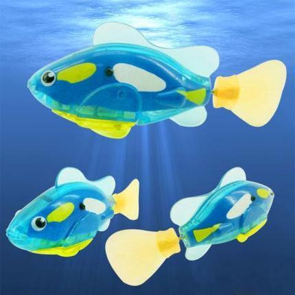 """Интерактивная игрушка """"Рыбка-робот"""" светящаяся ROBOFISH (Голубой), фото 2"""