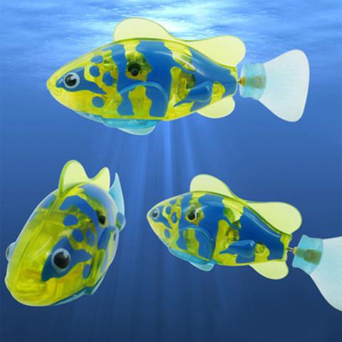 """Интерактивная игрушка """"Рыбка-робот"""" светящаяся ROBOFISH [2 шт.] (Желтый)"""