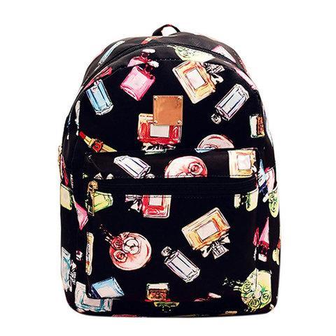 Рюкзак детский для девочек JINGPIN (Чёрный с духами)