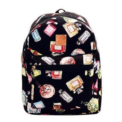 Рюкзак детский для девочек JINGPIN (Чёрный с духами), фото 2