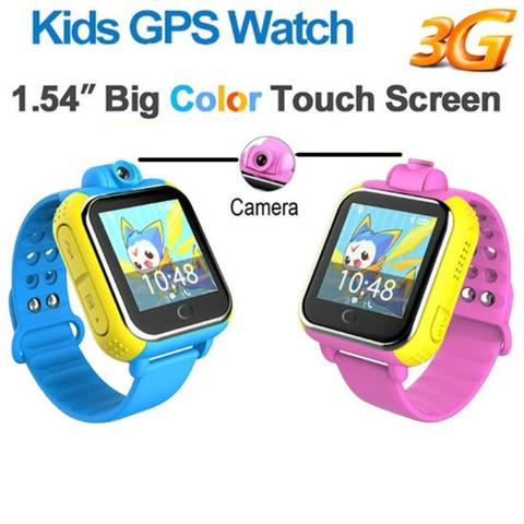 Умные часы детские с трекером GPS, камерой и сенсорным экраном Smart Baby Watch V83 (Голубой)