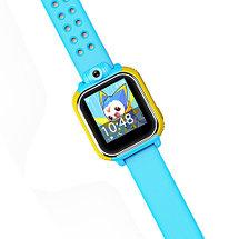 Умные часы детские с трекером GPS, камерой и сенсорным экраном Smart Baby Watch V83 (Голубой), фото 3