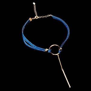 Колье-чокер из ткани (Чокер с кольцом)