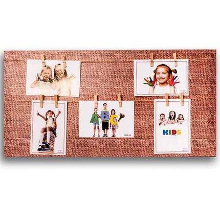 Фотоколлаж с прищепками «Семейная реликвия» [5, 7, 8 фото] (30x60 см / Белое дерево), фото 2