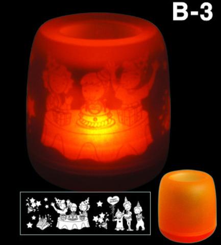 Электронная светодиодная свеча «Задуй меня» с датчиками дистанционного включения (B3 С днем рождения)