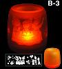 Электронная светодиодная свеча «Задуй меня» с датчиками дистанционного включения (Скелетики), фото 2