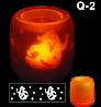 Электронная светодиодная свеча «Задуй меня» с датчиками дистанционного включения (Скелетики), фото 5