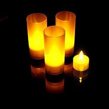 Светодиодная свеча LED Candle [2шт.] (Зелёная со стаканом), фото 3