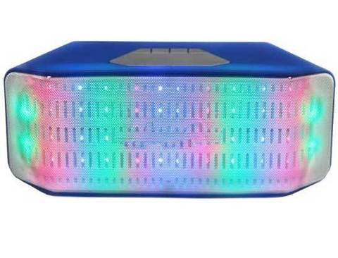 Колонка беспроводная со светомузыкой, FM-радио, TF и USB-флеш JHW-V316 (Синий), фото 2
