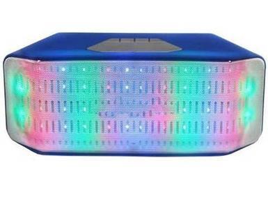 Колонка беспроводная со светомузыкой, FM-радио, TF и USB-флеш JHW-V316 (Синий)