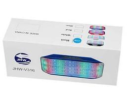 Колонка беспроводная со светомузыкой, FM-радио, TF и USB-флеш JHW-V316 (Белый), фото 2