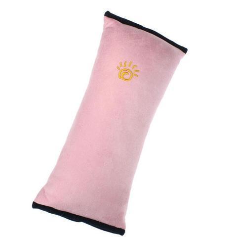 Подушка-накладка на ремень безопасности автомобиля HeroRider для детей (Розовый)