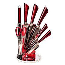 Набор ножей из нержавеющей стали на подставке KITCHEN KING [8 предметов] (Черный), фото 3