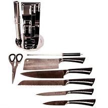 Набор ножей из нержавеющей стали на подставке KITCHEN KING [8 предметов] (Черный), фото 2
