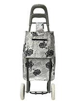 Сумка-тележка хозяйственная 8569 Delux с цветочным принтом (Коричневый), фото 3